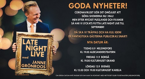 LATE NIGHT LIVE med Janne Grönroos